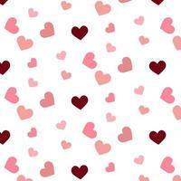 motif coeurs rose et bordeaux vecteur