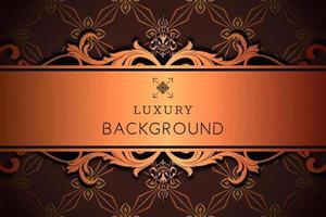 motif ornemental de luxe avec espace copie