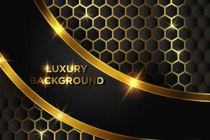 conception de fond de luxe or
