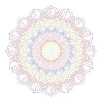 conception de mandala de couleur arc-en-ciel