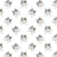 dessin animé motif de chats surpris
