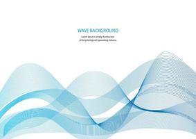 bannière publicitaire avec des formes ondulées bleues