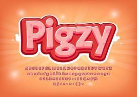 Police de porc 3D avec des points