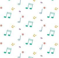 modèle avec des notes de musique