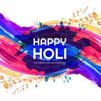 carte de festival de splash coloré joyeux holi