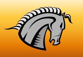 Logo de tête de cheval vecteur