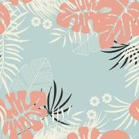 motif tropical sans couture d'été avec feuillage tropical vecteur