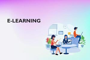 processus d'étude en ligne sur le site Web