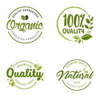 ensemble de symboles de logo eco