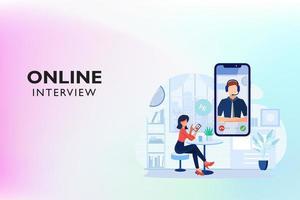 entretien par appel vidéo en ligne