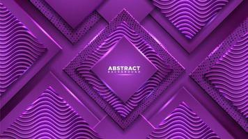 composition de diamant violet avec des formes géométriques
