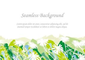 fond botanique vert transparent avec espace de texte
