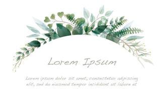 bordure d'arc botanique aquarelle
