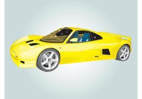 Ascari car illustration vecteur