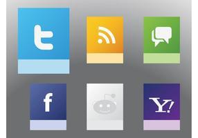 Vecteurs de sites Web sociaux vecteur