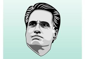 Portrait de Mitt Romney vecteur