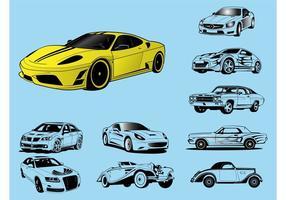 Illustrations de voiture vecteur