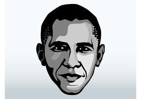 Visage de Barack Obama vecteur