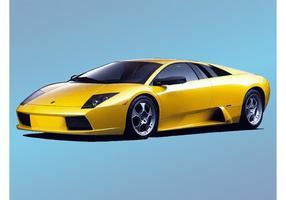 Lamborghini jaune vecteur