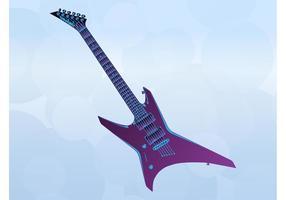 Guitare en métal vecteur