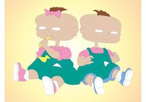 Jumeaux deville vecteur
