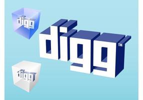 Logo Digg vecteur