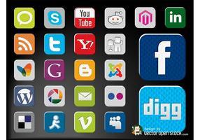 Vecteur d'icônes sociales