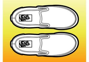 Paire de chaussures vecteur