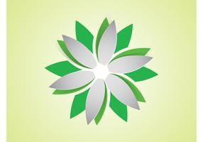 Logo de fleur de vecteur