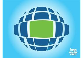Modèle de logo de planète
