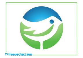 Modèle de logo d'oiseau vecteur