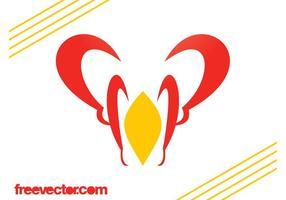 Modèle de logo abstrait vecteur