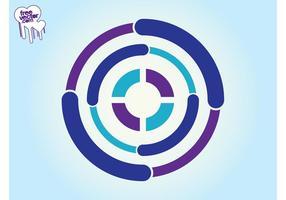 Logo avec des cercles vecteur
