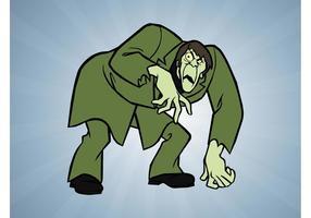 Zombie de dessin animé vecteur