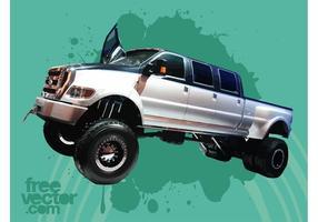 Camion superdance ford f650 vecteur