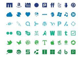 Ensemble de logo technologique