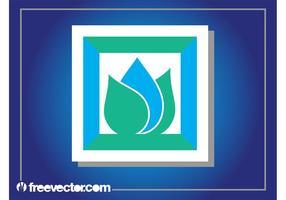 Logo de conception d'autocollants abstraits