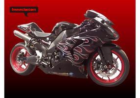 Vector de moto Kawasaki