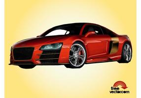 Red Audi r8 vecteur