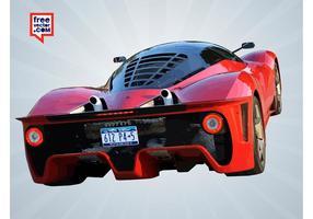 Ferrari rouge arrière