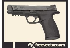 Pistolet de police smith et wesson vecteur