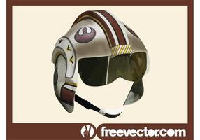 Casque pilote de Star Wars Rebel vecteur