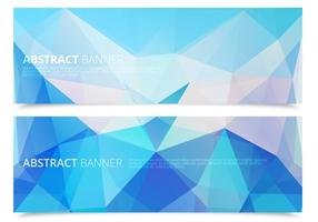 Abstract Icy Polygonal Banners Vector Set