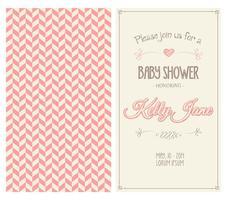 Vecteur d'invitation de douche pour bébé
