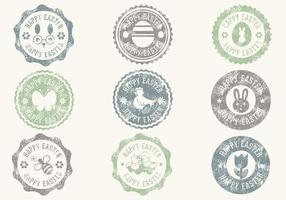 Vecteurs de badge pâques de pâques