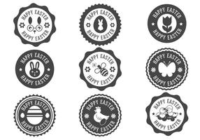 Joyeuses Pâques Label Vecteurs vecteur