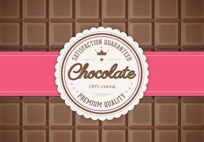 Bar de vecteur de fond de chocolat