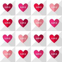 Vecteur modèle de coeurs d'amour