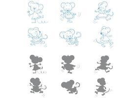 Vecteurs de souris de danse vecteur