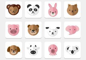 Pack vecteur d'icônes d'animaux